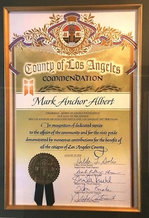 County of Los Angeles Commendation