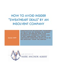 How to Avoid Insider 'Sweatheart Deals' by an Insolvent Company
